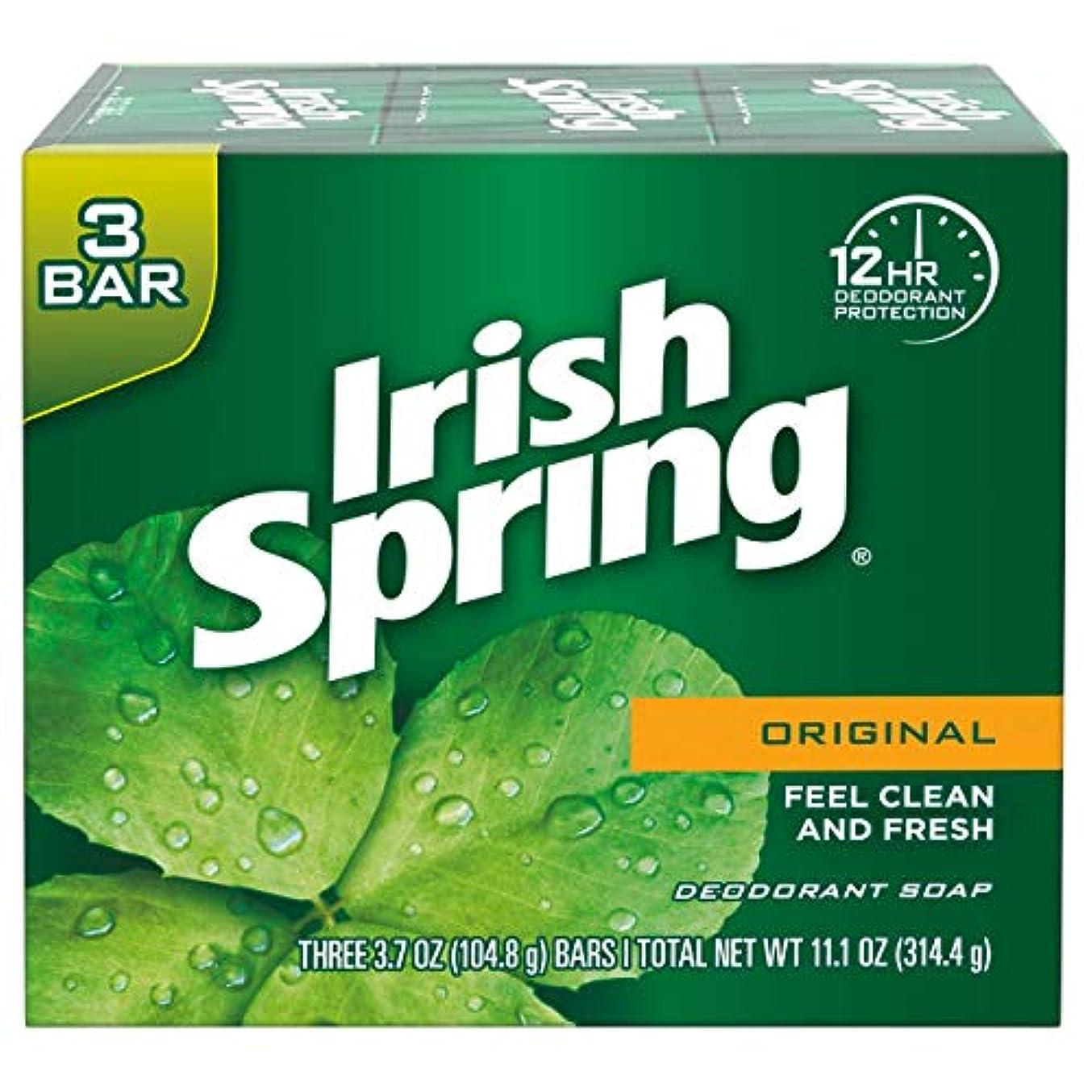 モスクエキス政治的Irish Spring(アイリッシュスプリング)デオドラントソープ 106.3g(3個パック)