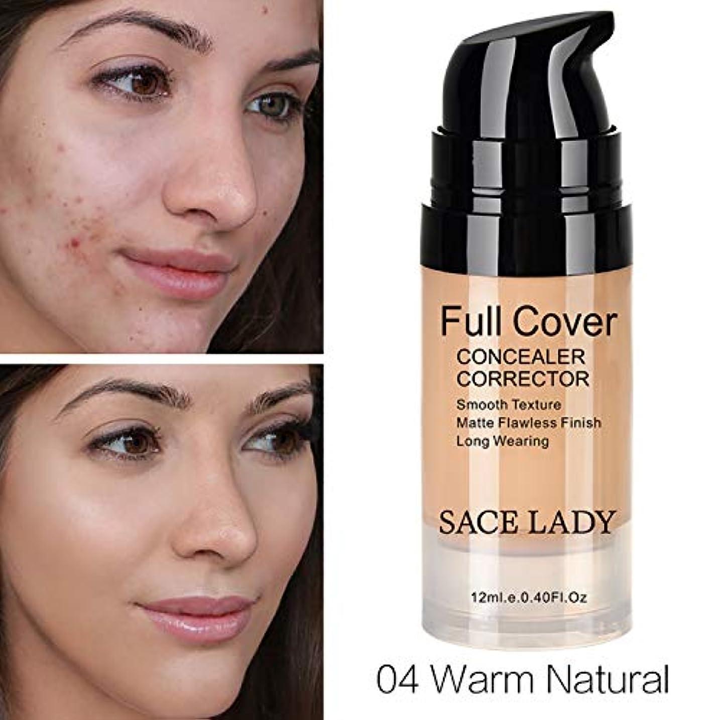 ヨーグルト港球状SACE LADY Full Cover Liquid Concealer Lightweight Smooth Matte Finish Corrector For Dark Circles Makeup (12ml, Warm Natural)