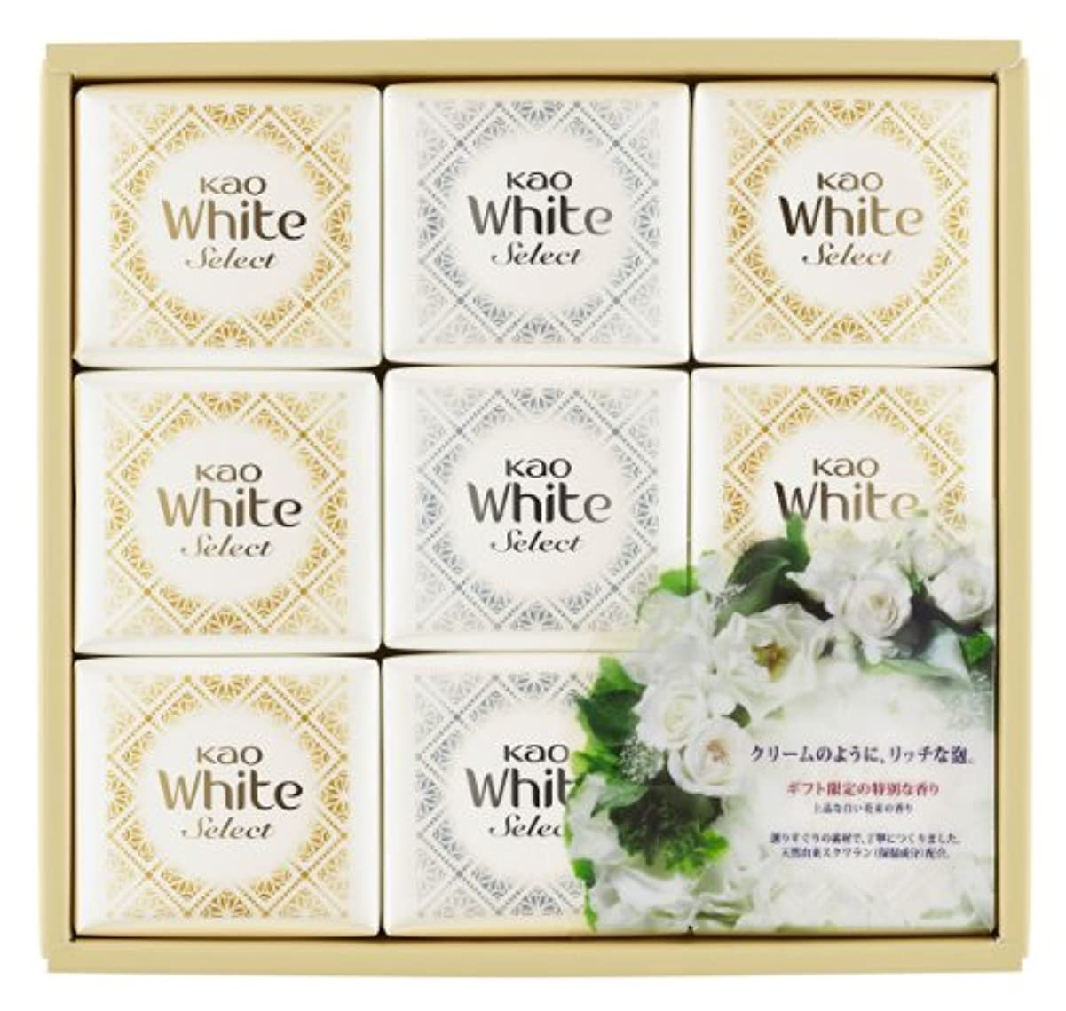 遠近法透過性信頼できる花王ホワイト セレクト 上品な白い花束の香り 85g 9コ K?WS-15