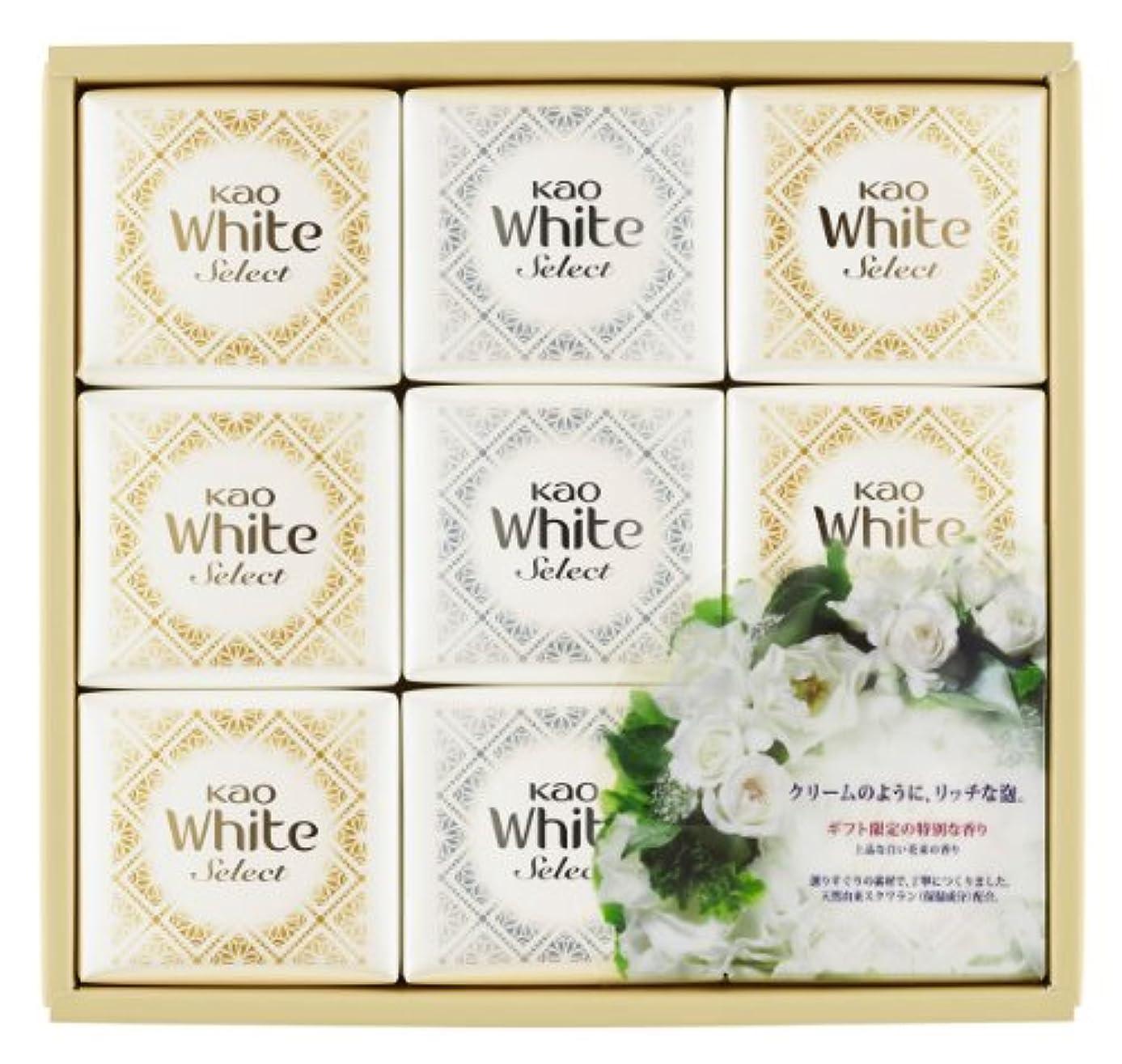 どんよりした速度あらゆる種類の花王ホワイト セレクト 上品な白い花束の香り 85g 9コ K?WS-15