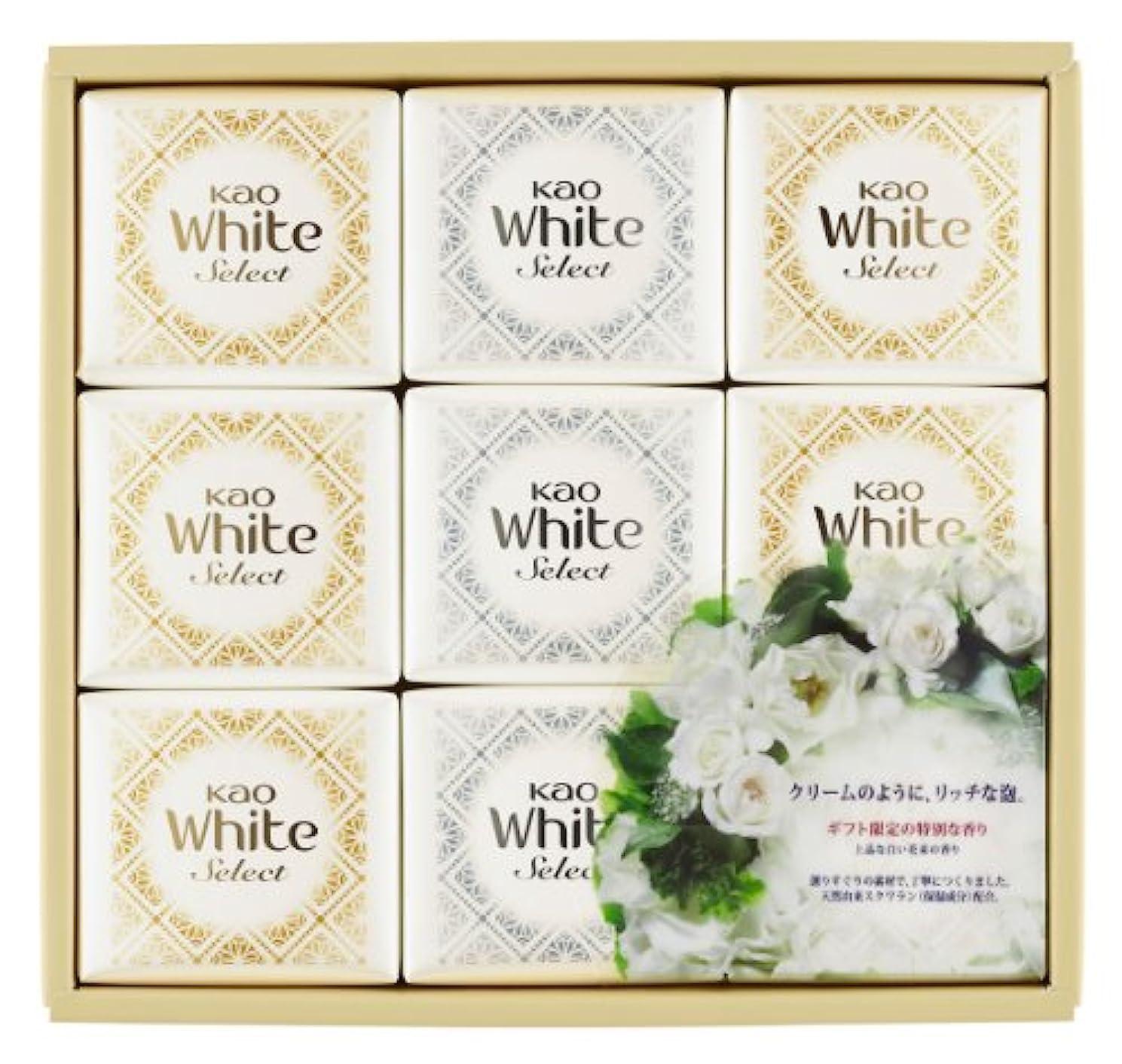 タイル図書館野望花王ホワイト セレクト 上品な白い花束の香り 85g 9コ K?WS-15