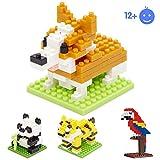 Limtoysマイクロビルディングブロック - 4キャラクターマイクロナノ - ダイヤモンド - ミニフィギュアレンガセット - 子供用おもちゃDIY(タイガー、パンダ、オウム、犬)