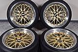 【中古】【タイヤ付きホイール 18インチ】BBS LM 10J +20 265/35R18 ハンコック スカイライン GT-R 鍛造 18in【F-YK0210A30S2-SPfh】