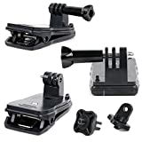 DURAGADGET耐久性quick-clip with Straightボルトスクリューコネクタfor Sony hdr-mv1、Hdr - gw66ve/WC。CEN、- as100V, HDR - as10..