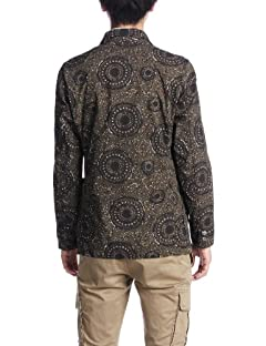 Dark Batik 3-button Jacket 38-16-0040-803: Brown