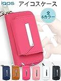 TeamS(チームエス) iQOS アイコス ケース カバー PU レザー ケース ヒートスティック 収納 合皮 電子たばこ ピンク