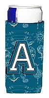 Letter A Sea Doodles Initial Alphabet Ultra Beverage Insulators forスリム缶cj2014-amuk
