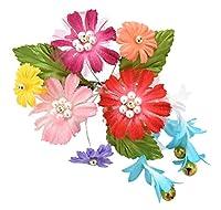 七五三 髪飾り 訳あり 子供用 髪飾り TKSP1601 カラフル花飾り 3歳 花かざり キッズ