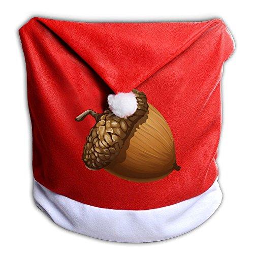 クリスマス 座椅子カバー 背部用 種実類 ナッツ ダイニングチェア サンタ帽 シート 椅子 カバー 背もたれカバー クリスマス プレゼント クリスマスツリー 飾り プリント ギフト 小道具