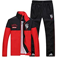 Risnow Men's Sweat Suits Exercise Tracksuits Workout Jogging Suits Outfit