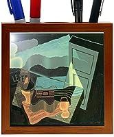 Rikki Knight Juan Gris Art Overlooking the Bay Design 5-Inch Tile Wooden Tile Pen Holder (RK-PH2930) [並行輸入品]