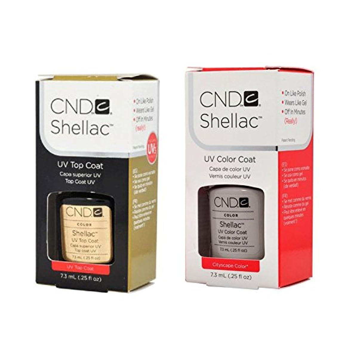 散るアクセント革命CND Shellac UVトップコート 7.3m l  &  UV カラーコー< Cityscape>7.3ml [海外直送品]