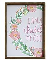 Heart of America 木製フレーム入り壁装飾 I Am A Child Of God - 2ピース