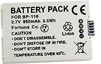 NinoLite BP-110 互換 バッテリー iVIS HF R21 対応 bp110_t.k.gai