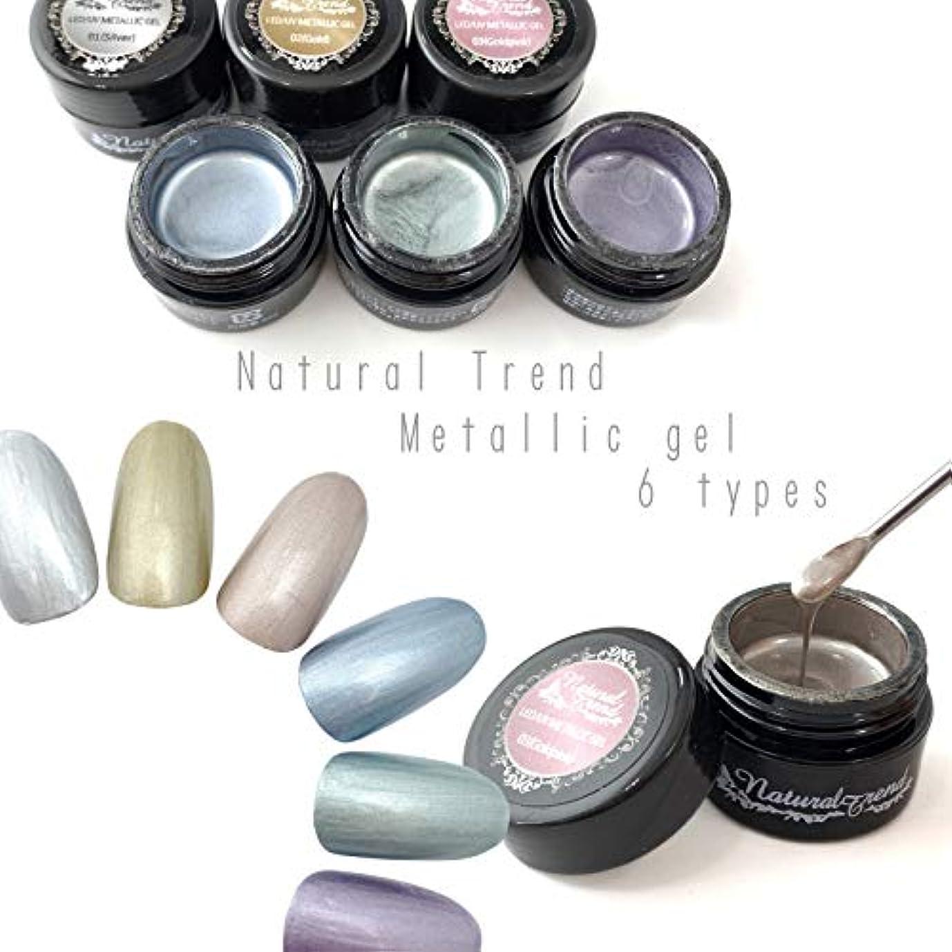 サイクロプスビデオワイヤーNaturalTrend メタリックジェル 6色カラー メタリックカラージェル メタリック (05,AshGreen)