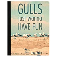 Tree-Free Greetings Gulls Want Fun Soft Cover 140 Page Recomposition College Ruled Notebook 9.75 x 7.25 Inches (CJ48359) [並行輸入品]