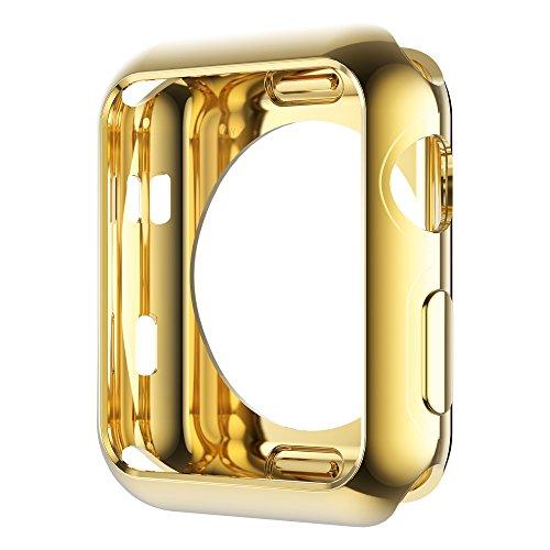HOCO Apple Watch Series 3 / 2 / 1 ケース メッキ TPU ケース 耐衝撃性 超簿 脱着簡単 アップル ウォッチ シリーズ 全4色 ゴールド 38mm