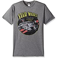 Star Wars Mens STRW9164-10001023 Official 'Falcon' Premium Performance Graphic Tee T-Shirt - Gray