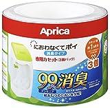 アップリカ 紙おむつ処理ポット におわないでポイ 専用カセット 3個セット カートリッジ/消臭/抗菌/防臭/09124