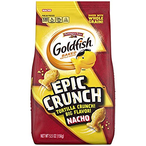 Pepperidge Farm Goldfish Epic Crunch Honey BBQ ペッパーリッジファームキンギョエピッククランチハニーバーベキュークラッカー150g x 3袋 [並行輸入品]