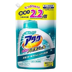 【大容量】アタック 洗濯洗剤 液体 高浸透バイオジェル 詰替用 1.8kg