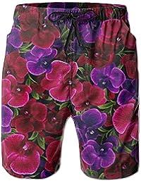 ラン 花柄 メンズ サーフパンツ 水陸両用 水着 海パン ビーチパンツ 短パン ショーツ ショートパンツ 大きいサイズ ハワイ風 アロハ 大人気 おしゃれ 通気 速乾