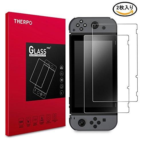 Nintendo Switch フィルム THERPO ニンテンドー スイッチ ガラスフィルム 薄型...