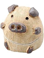 手造り 茶香炉/蔵富多 香炉/ぶた アロマ 癒やし リラックス インテリア 間接照明