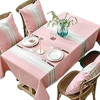 ピンクの布テーブルクロス - 長方形のコーヒーテーブルクロステーブルマットホテル会議装飾テーブルクロスワイプ可能なテーブルクロス (サイズ さいず : 110cm*110cm)