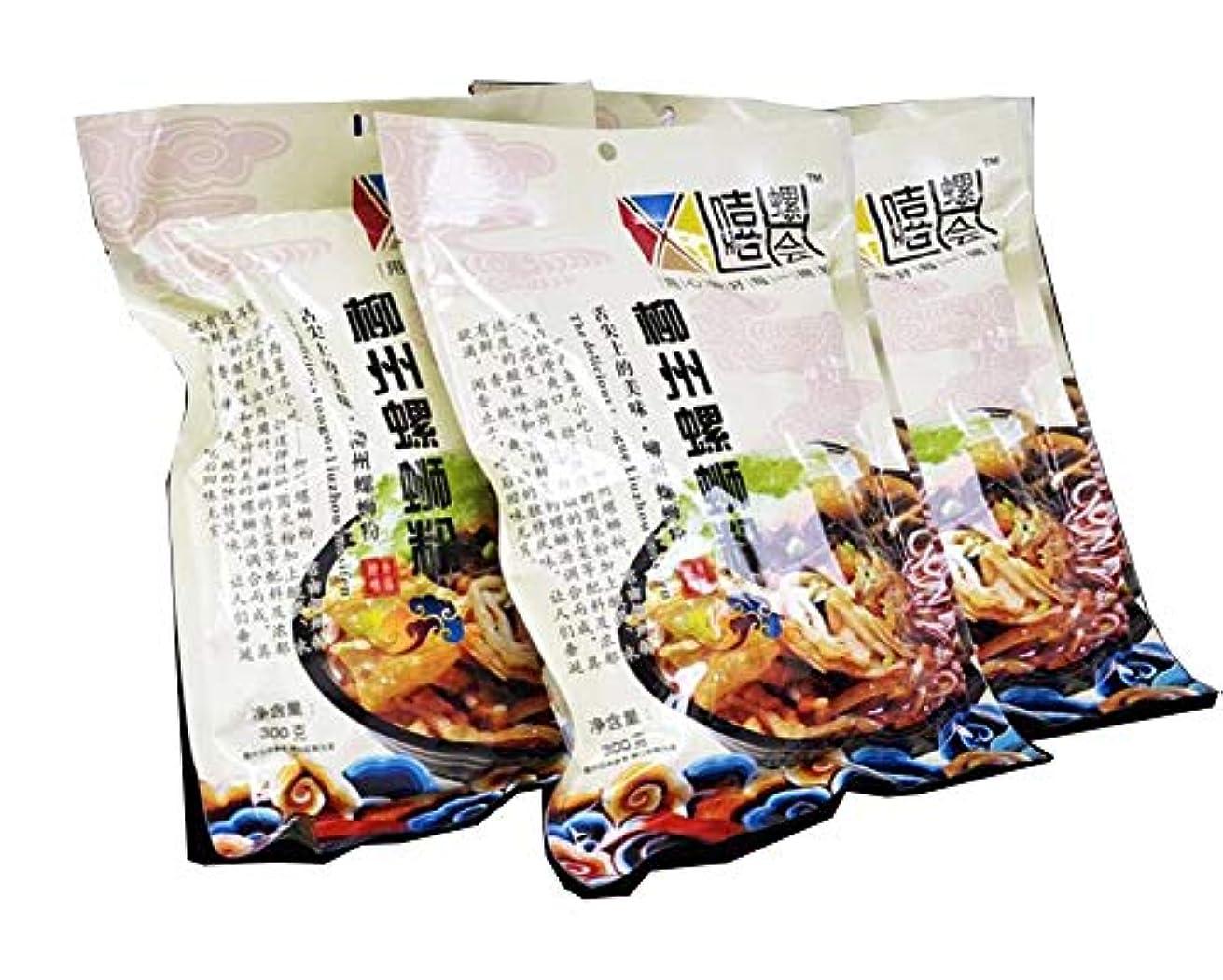 ビュッフェポンプスマイルALKAQ 柳州螺蛳粉 中華物産 インスタント麺 好吃的速食米粉 方便面 广西特产螺蛳粉300g*3袋