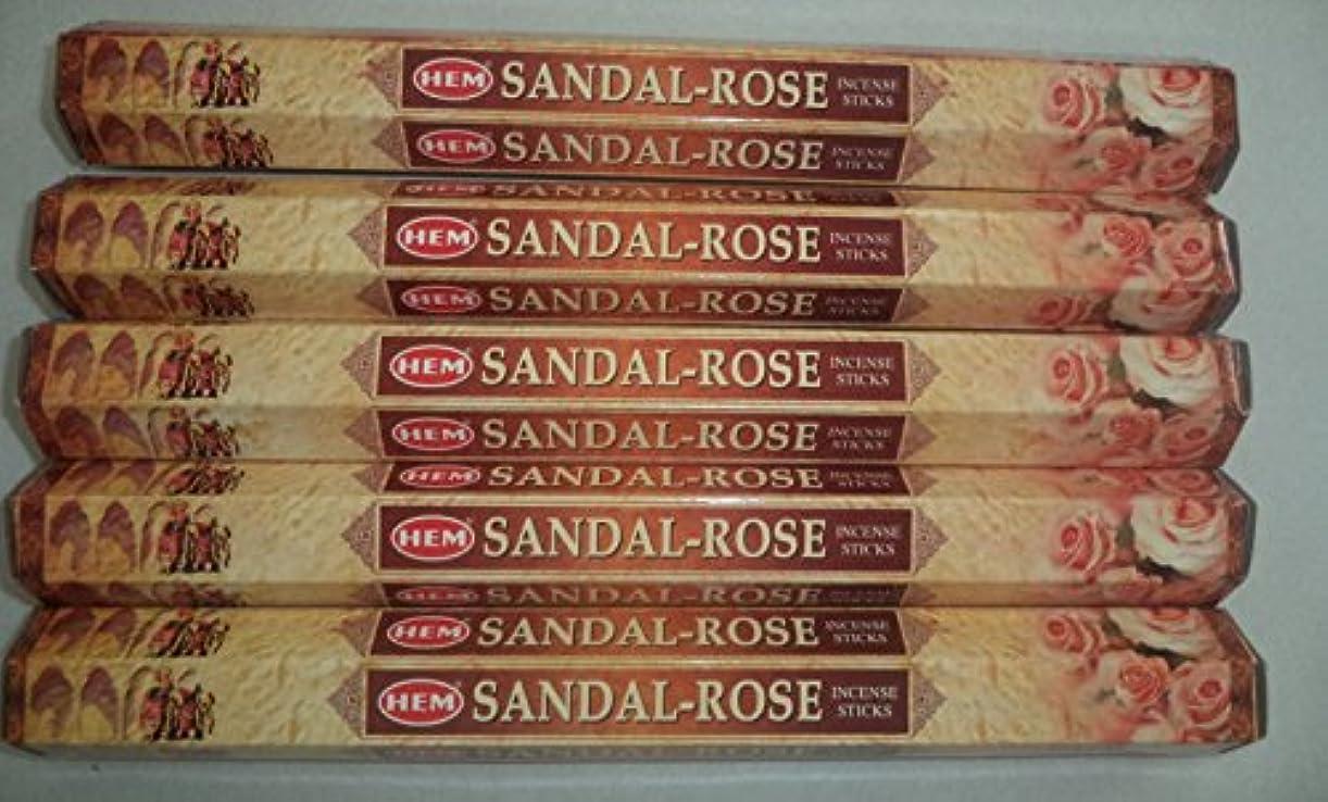 水銀の朝食を食べるスモッグHemサンダルローズ100 Incense Sticks (5 x 20スティックパック)