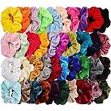 40pcs Hair Scrunchies Velvet Elastic Hair Bands Scrunchy Hair Ties Ropes 40 Pack Scrunchies for Women or Girls Hair Accessories, 40 Assorted Colors Scrunchies