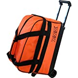 Tenthフレーム基本的なダブルローラーボーリングボールバッグ オレンジ