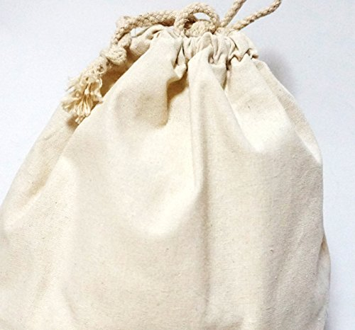 PRISM 巾着袋 ( 大 中 小 3点セット )コットン おしゃれ 布 小物 雑貨 (無地・生成り)
