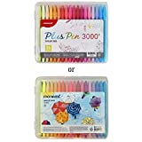 MONAMI Plus Pen 3000 Felt Tip Pens, Fine Point (0.4mm), Coloring/Drawing/Journaling, Assorted Colors, 36-Pack