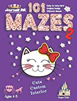 101 Mazes For Kids 2: SUPER KIDZ Book. Children - Ages 4-8 (US Edition). Cartoon Princess Cat Pink Sparkle w custom art interior. 101 Puzzles w solutions - Easy to Very Hard learning levels -Unique challenges and ultimate mazes book. Fun activity time (Superkidz - Princess 101 Mazes for Kids)