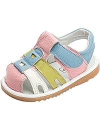 (ラボーグ) La Vogue ベビー サンダル 可愛い 女の子 男の子 赤ちゃん ファーストシューズ 子供靴 キッズ サンダル つま先保護 夏 出産祝い ピンク 13.5cm