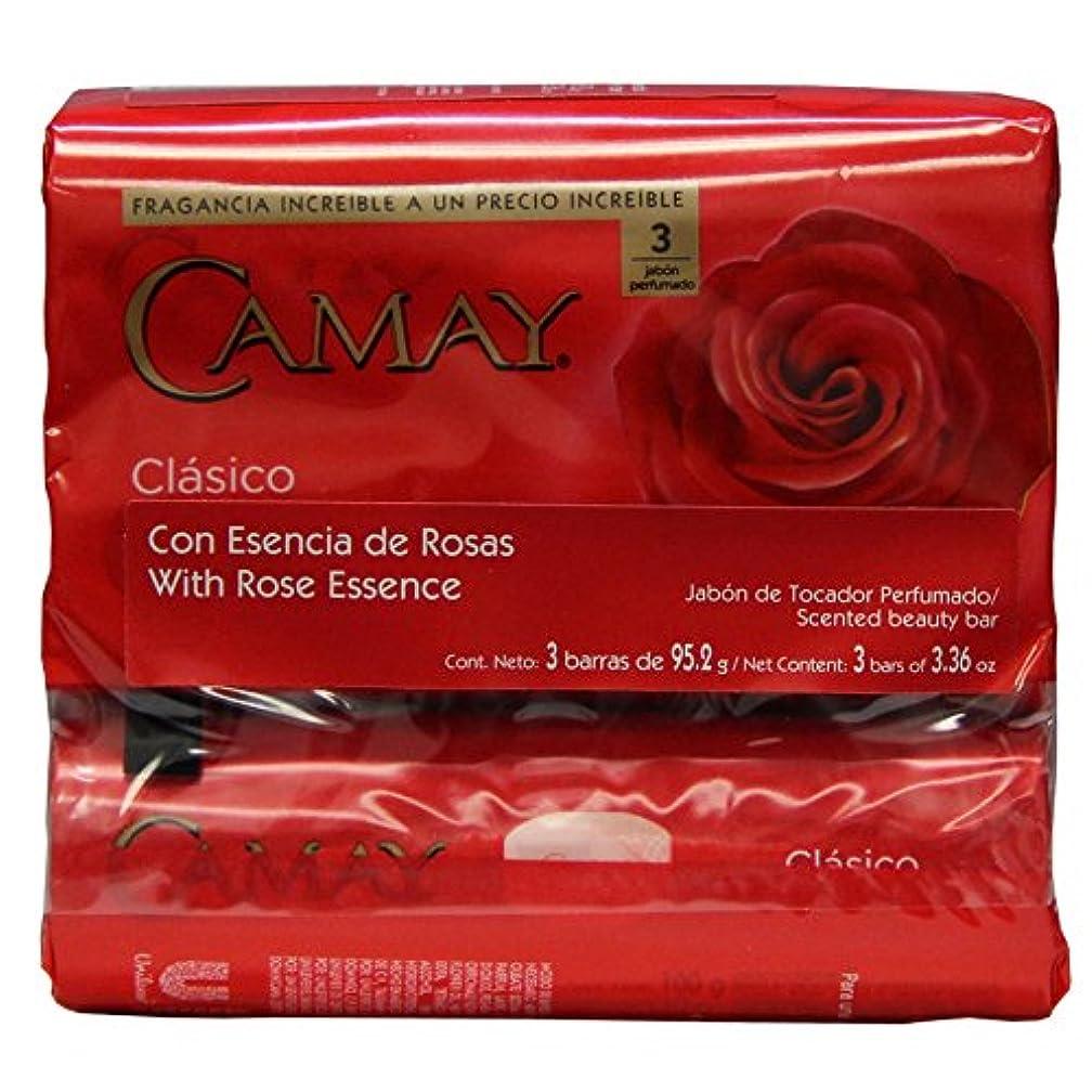 観察フックリップCamay Softly Scented Bath Bar Classic Soap 125 G / 4.5 Oz Each 3 Count 12 Bars Total by Camay