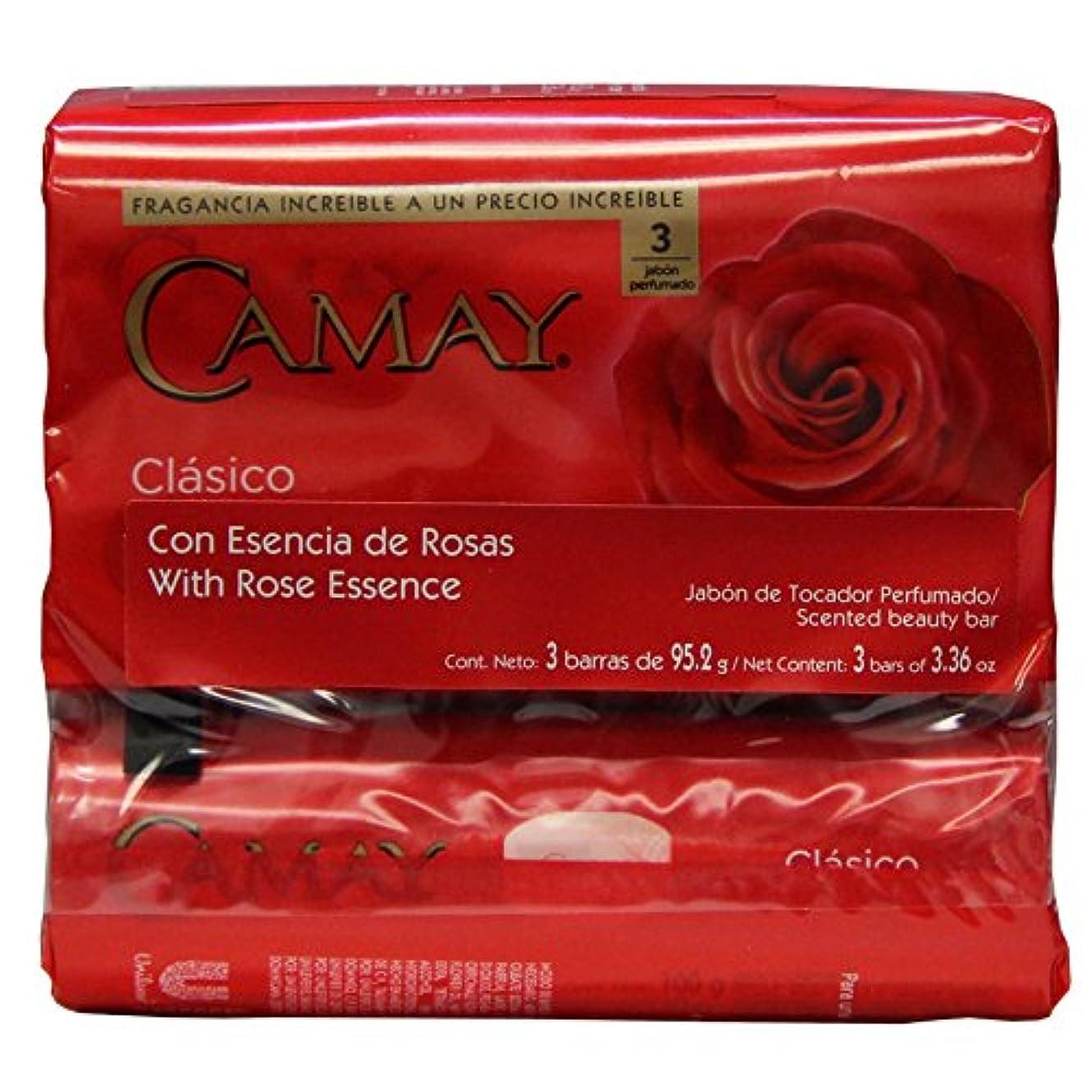 チケット捨てる好意的Camay Softly Scented Bath Bar Classic Soap 125 G / 4.5 Oz Each 3 Count 12 Bars Total by Camay