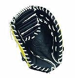 HI-GOLD(ハイゴールド) ソフトボールミットBASIC(ベーシック) 一塁手兼捕手用グローブ イエロー×ブラック 右投げ BSG-68F