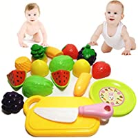 キッチンごっこEducational Toy for Kids , nomeni 10pc Cutting Fruit Vegetable Pretend Play
