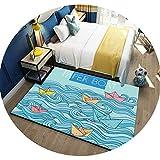 家庭用漫画子供クライミングマット寝室のベッドサイドカーペットキッチンベイウィンドウポーチマット環境保護ウォッシュ,KT-01,160×230 cm