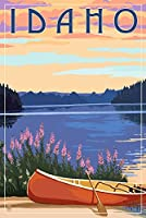 Idaho–カヌー、湖 9 x 12 Art Print LANT-68785-9x12