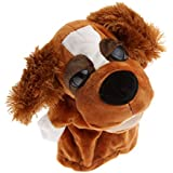 MagiDeal Soft Lovely Domestic Feather Ears Dogs Head Kids Children Educational Hand Puppet Toy Gift