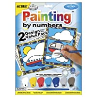 """My First Paint By Number Kit 8.75""""X11.375"""" 2/Pkg, Airplane & Helicopter"""