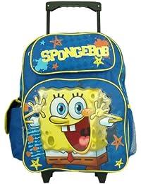 Large Rolling Backpack - Spongebob - Squarepants - Happy School Bag New 618735