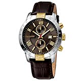 [ギ・ラロッシュ]Guy Laroche 腕時計 G3006-02 月日付カレンダー付きメンズ腕時計 レザーベルト メンズ