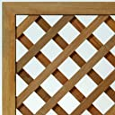 ウリン材 特注ラティスフェンス匠(ノーマル)ななめ格子 木製(高さ+横幅=合計270cm以内)(高耐久ウッドフェンス)日本製