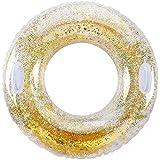 浮き輪 ドーナツ型 大人用 子供用 大人うきわ 直径120cm 便利なハンドル付き シルバー キラキラ 大きい ゴールデン インスタで映え 夏にぴったり 水遊び用 スイミング ビーチ 海水浴 レジャー用品 カップル 女の子