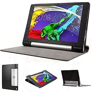 【3点セット 指紋防止保護フィルム2枚付】 lenovo yoga tablet 2 pro 13.3 ケース カバー 良質PUレザーケース(yoga tabret 2 13.3, PUレザーケースブラック) …